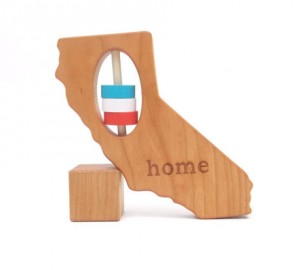 Baby Shower Gift Ideas - CA State Rattle
