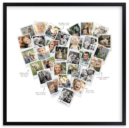 First Anniversary Gift Ideas - Heart Photo Mix