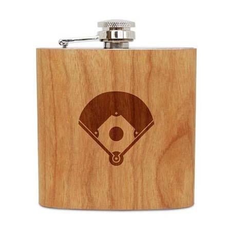 Tenth Wedding Anniversary - Baseball Flask