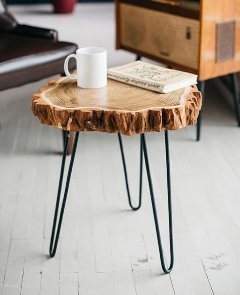 Live Edge Reclaimed Wood Coffee Table
