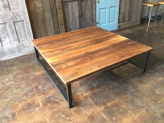 Reclaimed Wood Coffee Tables - Big & Square
