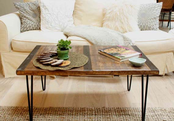 Reclaimed Wood Coffee Tables - Longleaf Pine