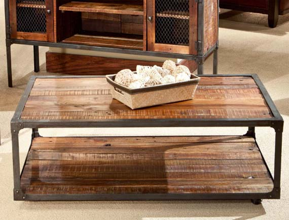 Reclaimed Wood Coffee Tables - Emerald Laramie