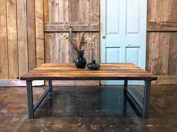 Reclaimed Wood Coffee Tables - Industrial H