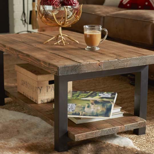 Reclaimed Wood Coffee Tables - Loon Peak
