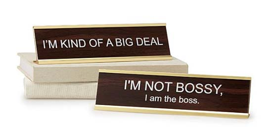 Gifts for Boss - Bossy Signs