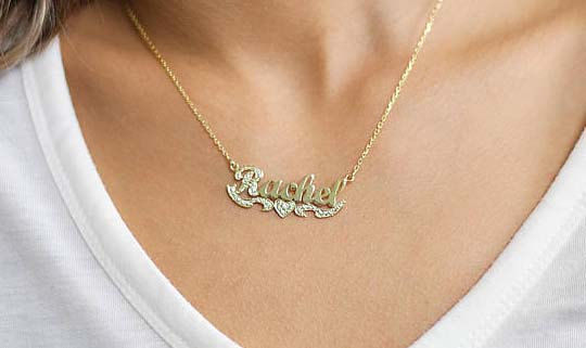 Name Necklaces - Dainty & Gold