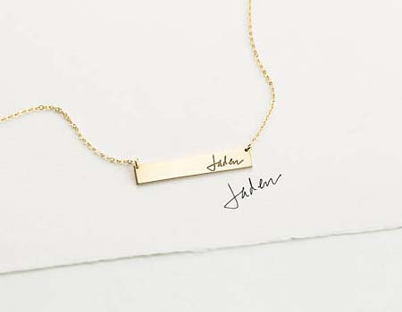 Name Necklace Etsy - Layered & Long