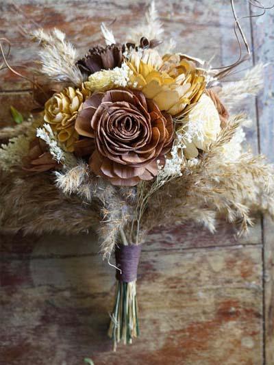 Wood Anniversary Gift - Wood Flowers