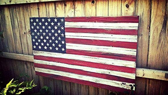 Wooden US Flag