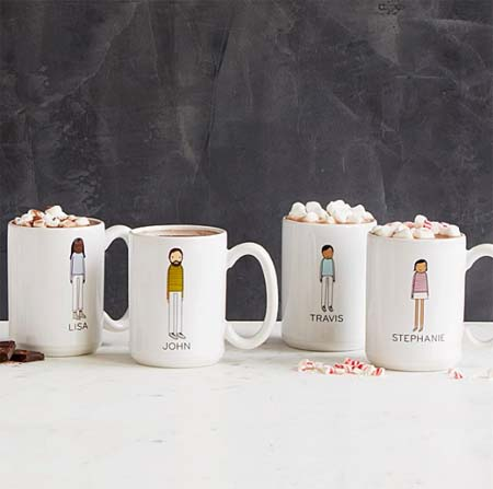 Gifts for Coffee Lovers - Illustrated Mugs