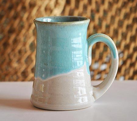 Handmade Pottery Mugs - Blue & White