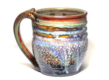 Handmade Coffee Mugs - Dripping Rust