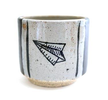 Handmade Coffee Mugs - Paper Airplanes
