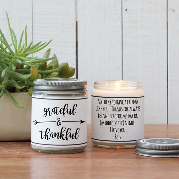 Creative Corporate Gifts - Custom Note Candle