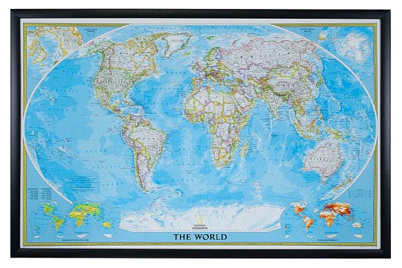 World Travel Map with Pins - National Geographic