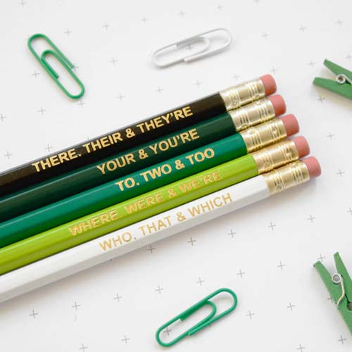 Green Grammar Pencils