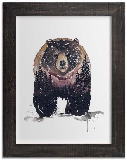 Kids Wall Art Prints - Nature Bear