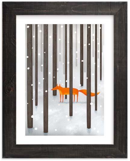 Kids Wall Art Prints - Fox in the Snow