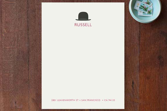 Cool Stationery for Him - Top Hat