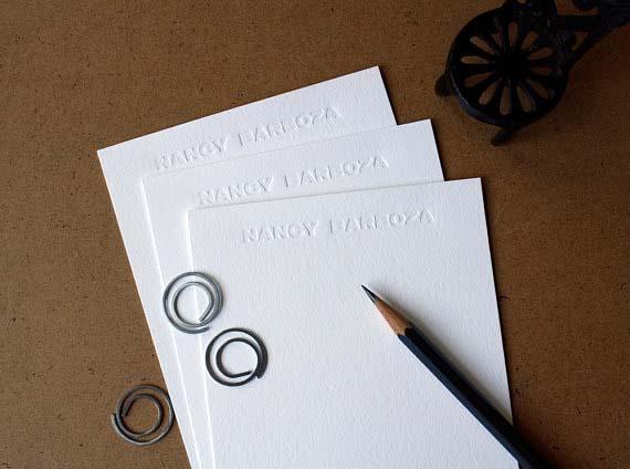 Cool Stationery for Him - Subtle Letterpress