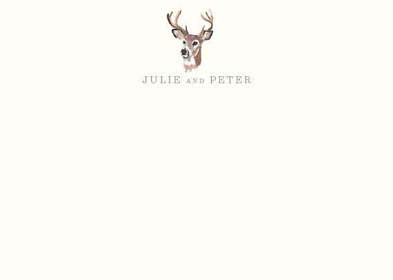 Cool Stationery For Him - Deer Hunter