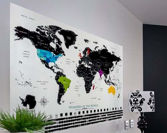 Scratch Off Map - Black & White