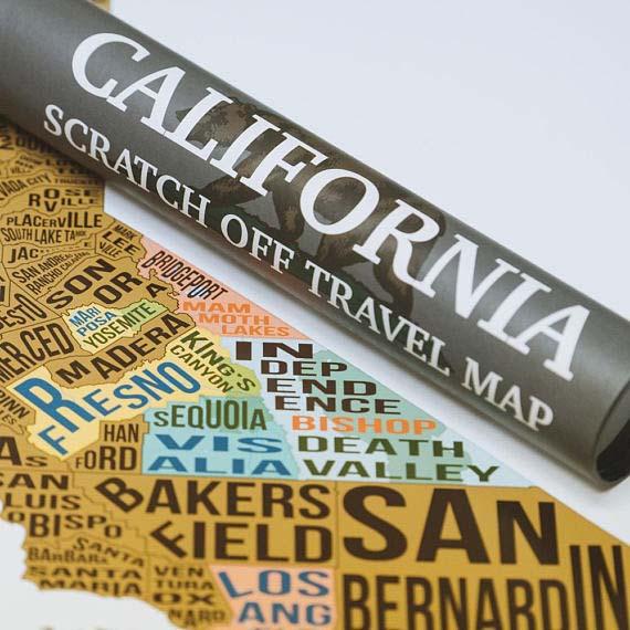 Scratch Off Travel Map - California