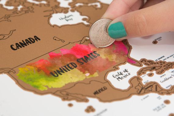 Scratch Off World Map - Kuulys