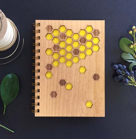 Honeycomb Wood Journal