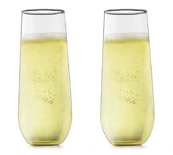 Gifts for Mom - Stemless Champagne Glasses