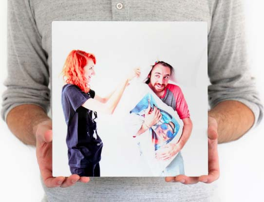 Long Distance Relationship Gifts - Metal Photo Print