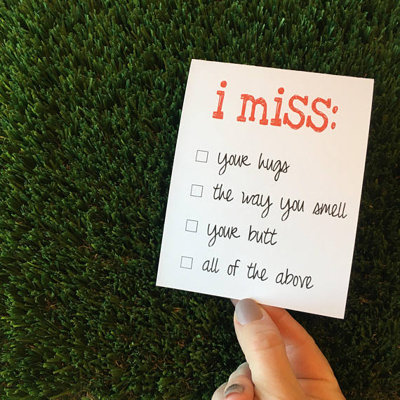 Long Distance Relationship Gifts - I Miss Your Card