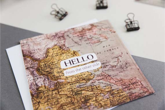 Long Distance Relationship Gifts - Hello Card