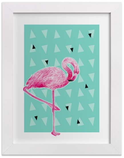 Nursery Wall Art Prints - Razzle Dazzle Flamingo
