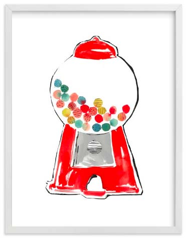 Nursery Wall Art Prints - Gumball Machine