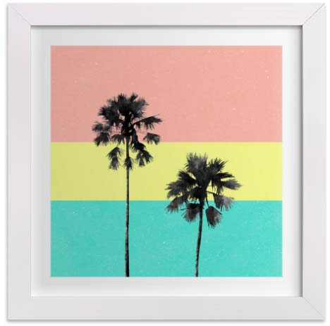 Nursery Wall Art - Palm Tree Silhouette