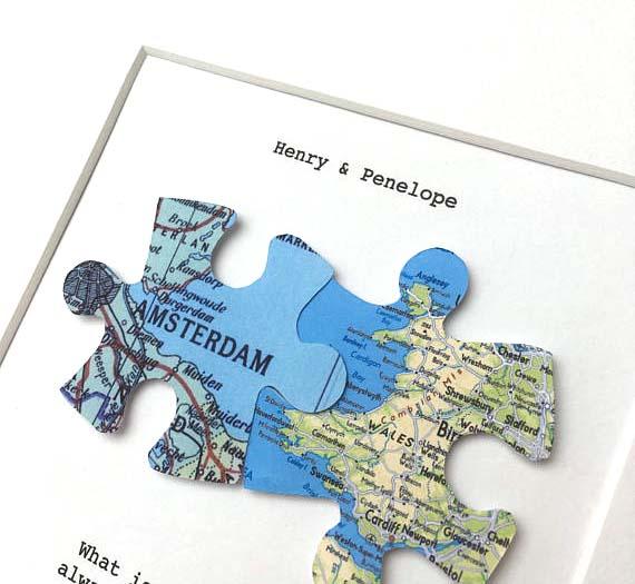 Puzzle Map Pieces