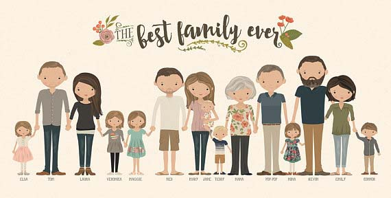 Gifts for Grandma - Extended Family Portrait