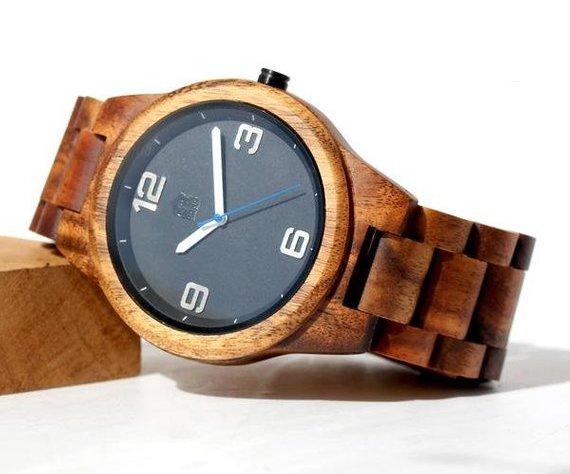 Hawaiian Gifts - Men's Koa Wood Watch