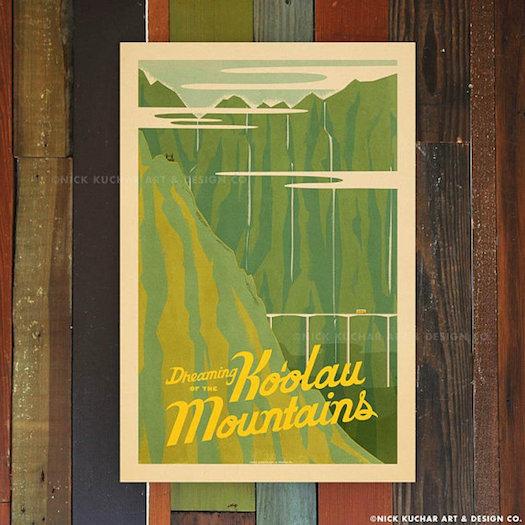 Best Hawaiian Gifts - Original Travel Posters