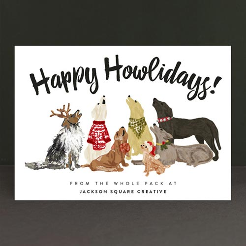 Business Holiday Cards Howliday Dog Pack
