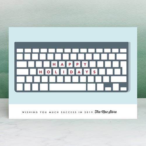 Business Holiday Cards - Keyboard Wishes