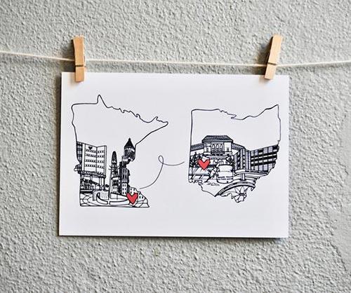 Two States Art Print