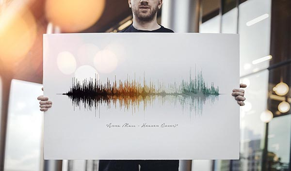 Your Voice in Sound Waves Art Print
