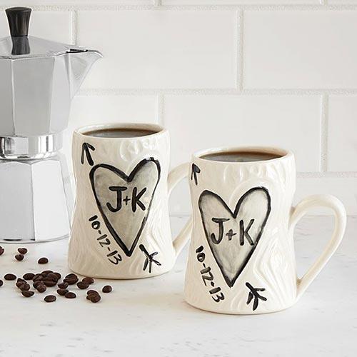 Porcelain Initials Mugs
