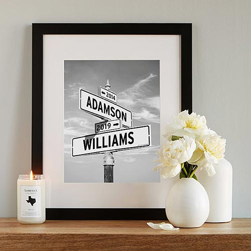 Long Distance Relationship Gifts - Intersection of Love Print