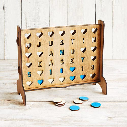 Long Distance Relationship Gifts - Connect Four Hearts Game