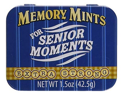 Best Gag Gifts 2020 - Memory Mints for Senior Moments