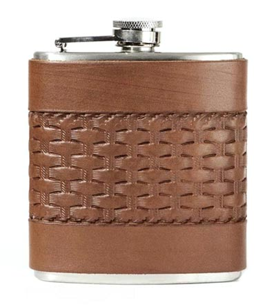 Stocking Stuffer Ideas - Leather Flask